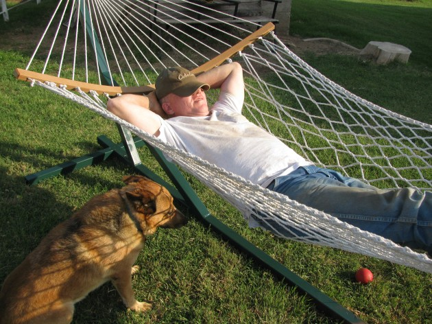 Relaxing in the Hammock