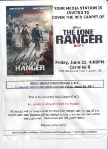 Lone Ranger Invite