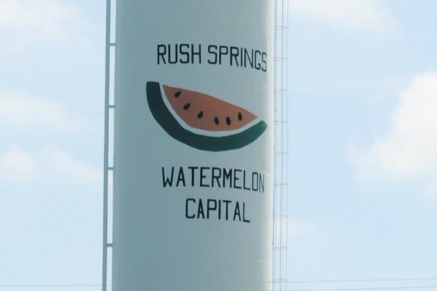 Rush Springs watertower