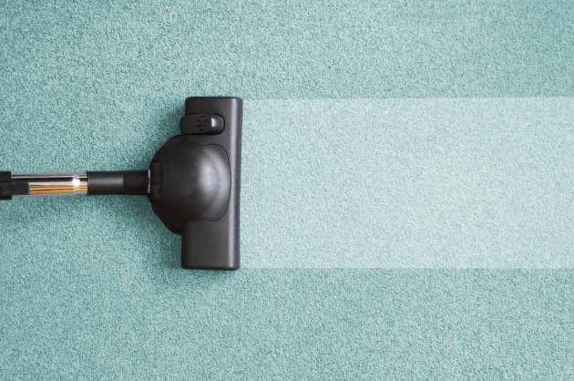 Vacuum clean carpet