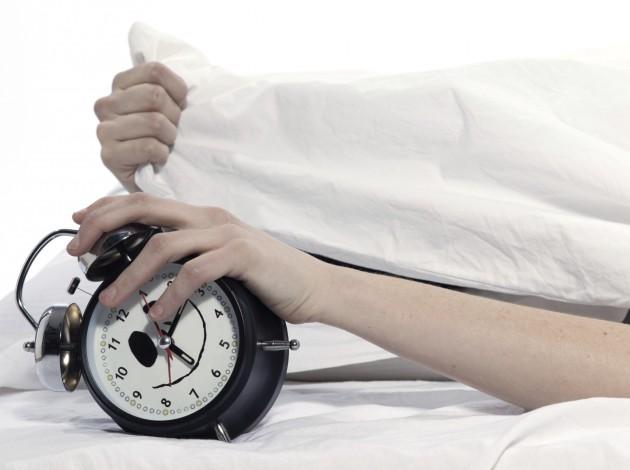 Grabbing alarm clock
