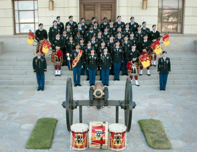 77th Army Band and Pipers