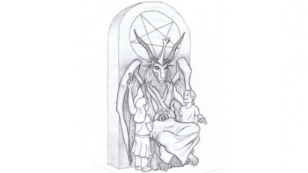 Satanic Statue Design for Oklahoma Capitol